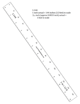 Hobbyist 144th-Scale Ruler Printable Ruler