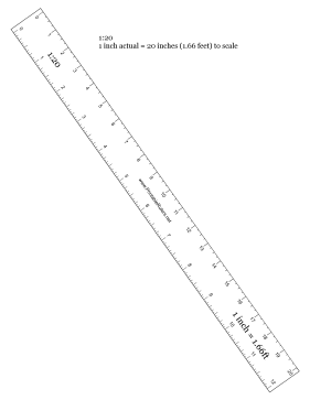 Hobbyist 1 to 20 Scale Printable Ruler