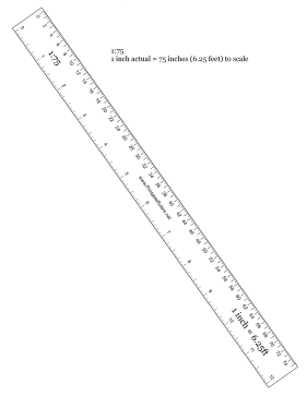 Hobbyist 1 to 75 Scale Printable Ruler