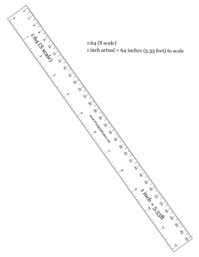 Hobbyist S-Scale Printable Ruler