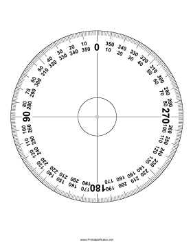 picture relating to Printable Circle named Protractor 360 Levels - Printable Ruler