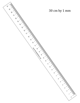 R To L Ruler 30-cm By mm Printable Ruler