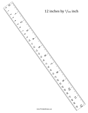 Ruler 12-Inch By 16 With cm Printable Ruler