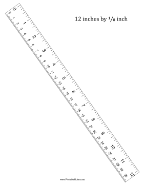 Ruler 12-Inch By 8 With cm Printable Ruler