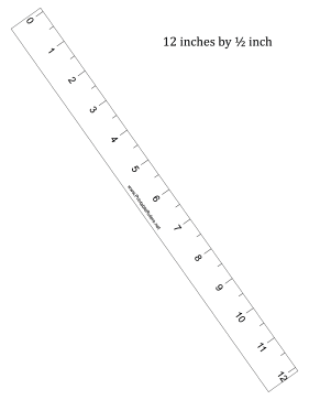 Ruler 12-inch by 1/2 inch Printable Ruler