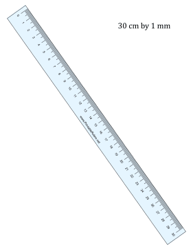Ruler 30-cm By mm Blue Printable Ruler