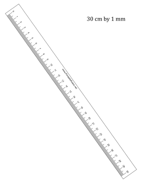 Ruler 30-cm By mm Bottom Printable Ruler