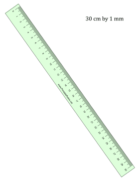 Ruler 30-cm By mm Green Printable Ruler
