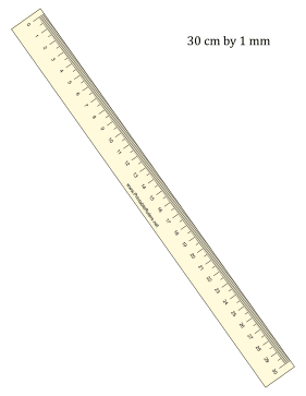 Ruler 30-cm By mm Yellow Printable Ruler