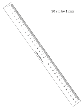 30-cm by mm Ruler Printable Ruler