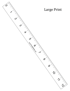 graphic regarding Free Printable Ruler titled Substantial Print Ruler - Printable Ruler