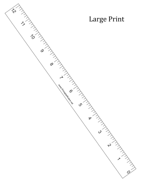 Ruler Large Print R To L Printable Ruler