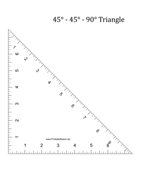 Triangle-45 Printable Ruler