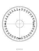 Protractor 360 Degrees OpenOffice Template